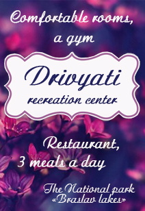 recreation center Drivyati Rest in Belarus 3 meals a day 2020